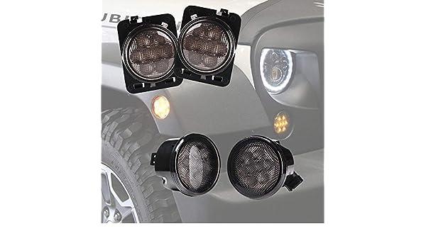 UKNANY 2Pcs Side Marker Turn Signal Light Amber For Toyota Land Cruiser 70 80 100 Series