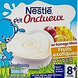Nestlé Bébé P'tit Onctueux au Fromage Blanc Fruits Exotiques dès 6 mois 4 x 100 g - Lot de 6 (24 coupelles)