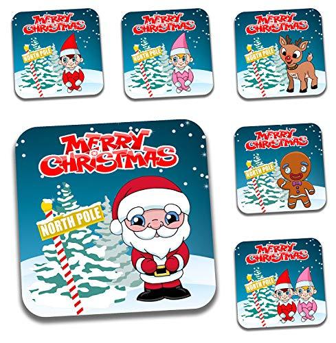 rsetzer-Boy Elf-Mädchen Elf-Santa-Lebkuchen-Rentier (Set von 6) ()