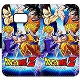 Coque Samsung Galaxy S7 Edge Étui en cuir pour portefeuille Flip Book Design By Dragon Ball Z Vegeta VS Goku G3RQY