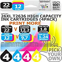 T2636 16 Pack 26XL T2636 Our Capacity Bk 22ml Colours 12ml