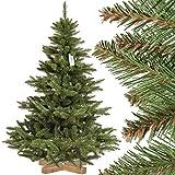 FairyTrees Weihnachtsbaum künstlich NORDMANNTANNE, grüner Stamm, Material PVC, inkl. Holzständer, 150cm