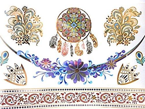 Magnifiques Tatouages Temporaires Tatouages éphemères couleurs et doré PROMO TATOUAGES (si vous désirez achetez plusieurs planches : 2 achetées au choix = 2 gratuites en plus au choix. 3 achetées au choix = 3 gratuites en plus au choix. 4 achetés au choix = 4 gratuites en plus au choix. 5 achetés au choix = 5 gratuites en plus au choix). TATOUAGES METALLIQUES TEMPORAIRES DOREE ET ARGENTEE NON TOXIQUE. Waterproof.