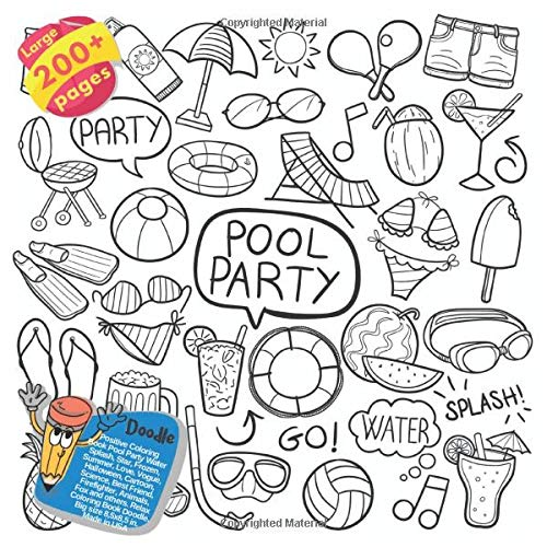 Dallas Cowboys Halloween - Positive Coloring Book Pool Party Water