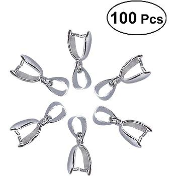 10 Stücke Anhängerschlaufe Verschluß Metall Anhänger Für Perlen