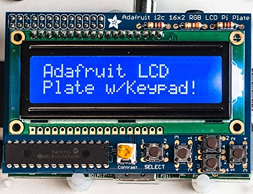 1115 Lcd (ADAFRUIT INDUSTRIES 1115 BLUE & WHITE 16X2 LCD + KEYPAD KIT, RASPBERRY PI)
