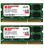 Komputerbay 16GB (2x 8GB) DDR3 PC3-10600 10666 1333MHz SODIMM 204-Pin Laptop Memory 9-9-9-24