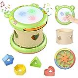 TUMAMA Musicale Giocattolo per Neonati,Strumenti Musicali per Bambini,Tamburo Giocattolo Regali per Neonati Bambina Neonata