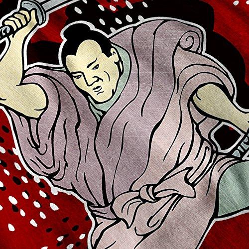 Samurai Katana Fantasie japanisch Damen S-2XL Muskelshirt | Wellcoda Marine