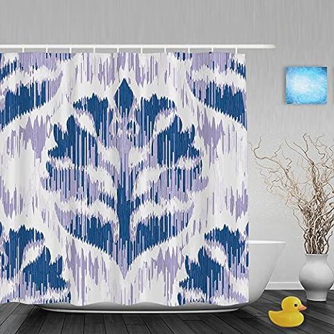 Tissu imitation Tribal Motif zigzag Décor de salle de bain rideau de douche en tissu de polyester rideaux de douche Morden style imperméable et antimoisissure 152,4x 182,9cm