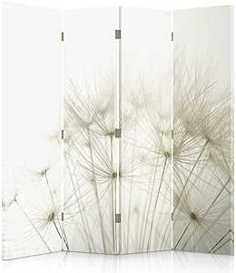 Feeby Frames Paravent d/éco Rustique Impression 3 Panneaux Marron 110x150 cm