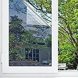 Fensterfolie Spiegelfolie Sichtschutzfolie,90 x 200cm Silber,Selbstklebende Fensterfolien Fenster Sichtschutz Sonnenschutzfolie Mit Hitzeschutz UV-Schutz