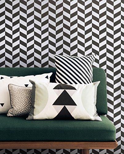 Ferm Living Kissen 40 x60 cm schwarz weiß gestreift Black Stripe Cushion - 2