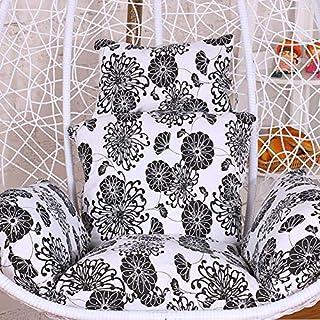 Love House Hängende Ei hängematte Stuhl Kissen, Gedruckt Schaukel Sitzkissen Dick Rocking Polsterauflage Mit Kissen und Arme-G