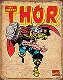 Thor Distressed Retro Vintage Tin Sign - 32x41 cm