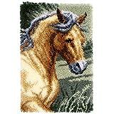 Vervaco PN-0150907 Knüpfteppich Pferd Knüpfpackung zum Selbstknüpfen eines Teppichs