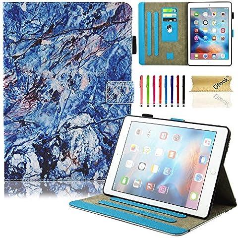 iPad Air Housse Coque 9.7-inch, Dteck(TM) Etui Portefeuille en Cuir Synthetique avec Support [Fermeture Magnétique] [Auto Veille] [Porte-carte] Couverture pour Apple iPad Air/Air 2, 04 Bleu