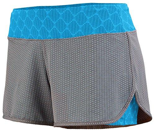 Augusta Sportwear Damen Short GRAPHITE/POWER BLUE PLEXUS PRINT