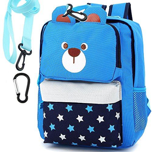 Imagen de  infantil barata guarderia escuela niños saco perro oso animales senderismo azul diseño niño