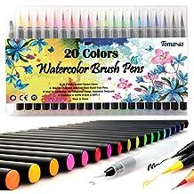Rotuladores 20pcs cepillo de suministros de arte Acuarela Lápices para colorear libros DIY Sketching Bullet diario pintura de caligrafía con 1agua pincel pluma punta de fieltro