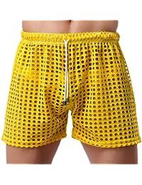 YiZYiF Herren Bermudas Shorts Schnürung Aushöhlen Sommer Shorts Strand  Hosen Pants Badeshorts S M L 126c71c1cc