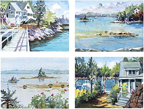 Arthouse Little Maine Cottage, Giclée-Print von Aquarell, 25,4x 33cm Bild -