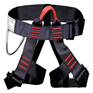 Escalada arnés proteger pierna cintura más seguro cinturones para montañismo exterior Fire Rescue Rock Climbing