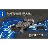 Gioteck - Controller Power Skin, Batería Incorporada, Color Negro (PlayStation 4)
