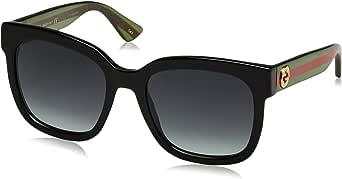 Gucci GG0034S 002 Occhiali da sole, Nero (Black/Grey), 54 Donna