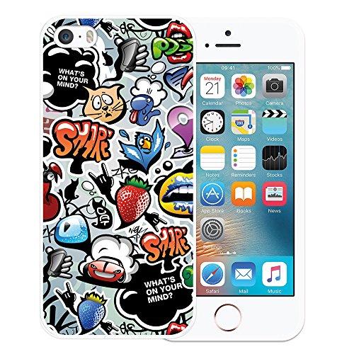 iPhone SE iPhone 5 5S Hülle, WoowCase Handyhülle Silikon für [ iPhone SE iPhone 5 5S ] Hawaii Big Waves Surf Rider Handytasche Handy Cover Case Schutzhülle Flexible TPU - Transparent Housse Gel iPhone SE iPhone 5 5S Transparent D0081