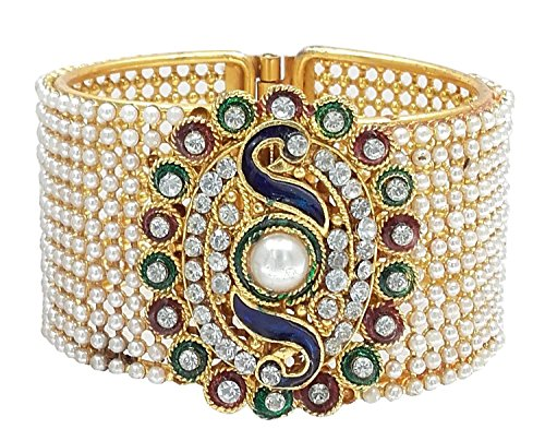 Zeneme Dancing Peacock American Diamond Bangle / Kada Jewellery For Women / Girls  available at amazon for Rs.299