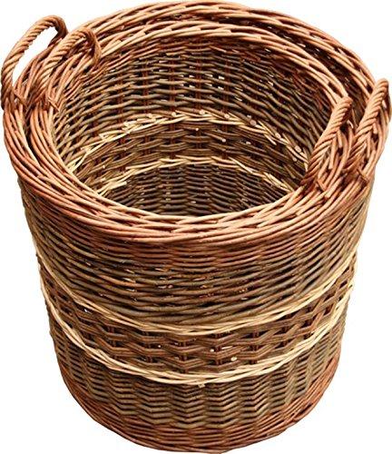 Set of 3 Glastonbury Log Baskets