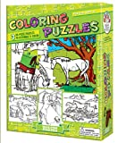 Cobble Hill-Color Your Own Puzzle: Horses. It is coloring time! These coloring puzzles include enough detail to create a great puzzle, but not so over done that any child can easily add his or her own creation to make for a truly unique puzzle! This ...