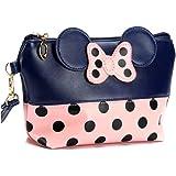 Mouse Ears Style Tupfen Kosmetiktasche - Damen Schminktasche Cartoon Mini Geldbörse für Handtasche Makeup Tasche,Schlüsseln,