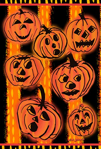 Toland Home Gartenfahne Kürbis Pals, 31,8 x 45,7 cm, dekorativ, gruselig Halloween, Jack-O-Laterne (An Entführung Halloween)