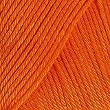 Schachenmayr Catania - Gomitolo 100% cotone, da 50 g, per lavoro a maglia, colore: Mandarino (281)
