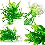 Legendog Artificial Aquatic Plants, 10 Pcs Aquarium Plants Plastic Fish Tank Decorations, Artificial Green Plant Grass… 15