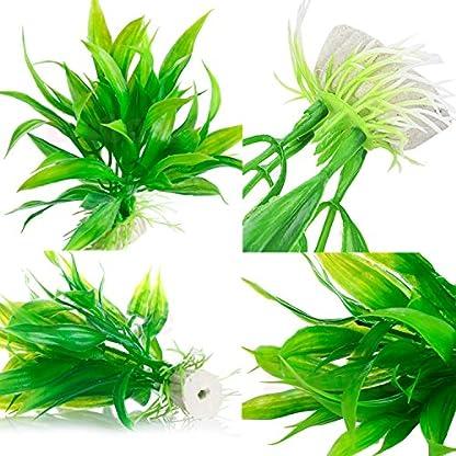 Legendog Artificial Aquatic Plants, 10 Pcs Aquarium Plants Plastic Fish Tank Decorations, Artificial Green Plant Grass… 7