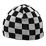 Search : BB2 White And Black Check Beanie Ski Hat