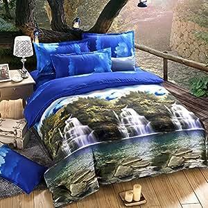 Anself 4pcs 3d stampato montagna di biancheria da letto - Amazon biancheria letto ...