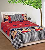 Bed & Bath Cotton Single bedsheet with 1...