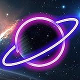 LTXDJ Planet Neonlamp, led-borden, neonborden, led-planeet, neonverlichting, batterij of USB-voeding, decoratie voor thuis, k