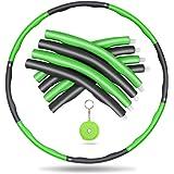 Awroutdoor Gewogen fitnesshoepel, zachte EVA-schuimgevoerde oefenhoepels voor tieners en volwassenen, oefening, dans en fitne