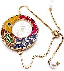 Cardinal Meenakari Peacock Designer Stylish Bracelet Bangle Watch for Women/Girls