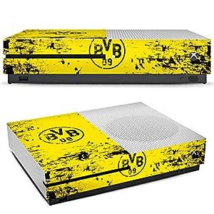 DeinDesign Skin kompatibel mit Microsoft Xbox One S Aufkleber Folie Sticker Borussia Dortmund BVB Fanartikel