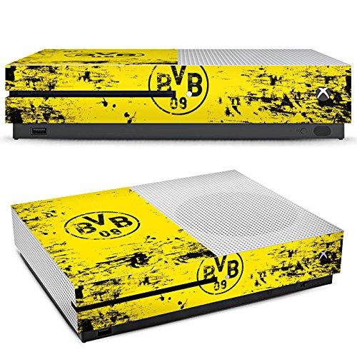 DeinDesign Microsoft Xbox One S Folie Skin Sticker aus Vinyl-Folie Aufkleber Borussia Dortmund BVB Fanartikel