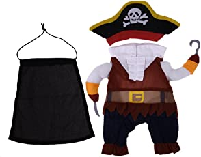 Rrimin Halloween Pirate Design Funny Dog Clothes Cotton Soft Pet Clothing Costume S