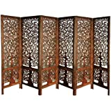 Shilpi:Wooden Partition (Mango Wood)/ Room Divider/Screen 9( 6 pannel )