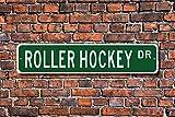Aersing Metall Schild Post Rollhockey Schild Rollhockey Fan Teilnehmer Geschenk Lover Wand Home Dekoration Straßenschild