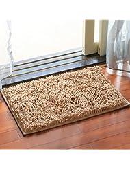 Chenilla tapetes baño esteras anti - derrape alfombra de baño alfombra de pies absorbentes salón dormitorio salón de cabecera Foothill ( Color : I )